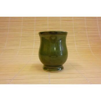 Boros pohár zöld színben