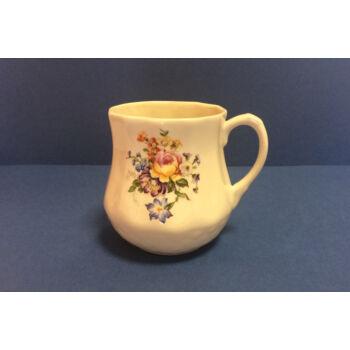 Porcelán bögre - sárga rózsás
