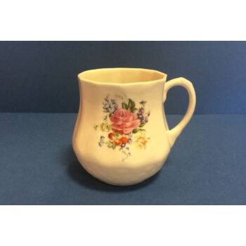 Porcelán bögre - rózsaszín rózsás