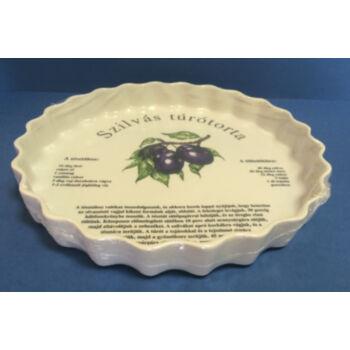 Porcelán gyümölcstorta sütő - szilvás