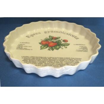 Porcelán gyümölcstorta sütő - eper mintával