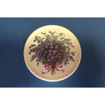 Porcelán poháralátét nefelejcs mintával