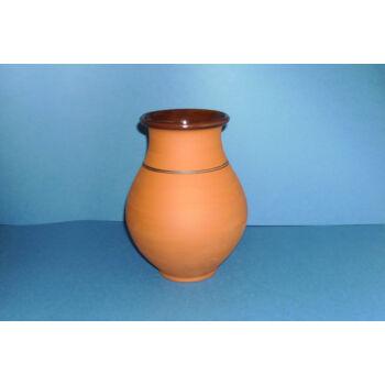 Váza natúr barna színben