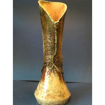 Raku váza különleges mintával