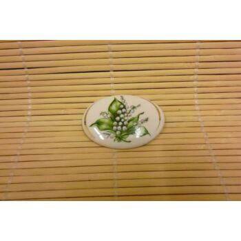 Hűtőmágnes - ovális - gyöngyvirágos