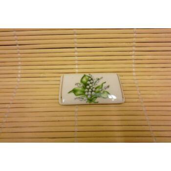 Hűtőmágnes - tégla - gyöngyvirágos
