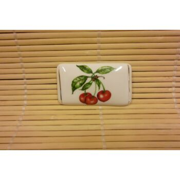 Hűtőmágnes - tégla - cseresznye