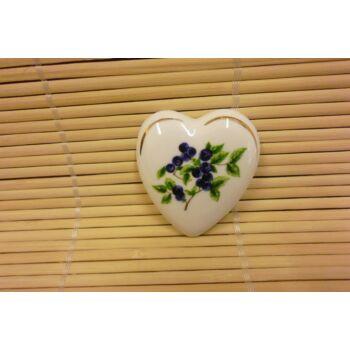 Hűtőmágnes - szív - áfonyás