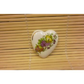 Hűtőmágnes - szív - gyümölcsös