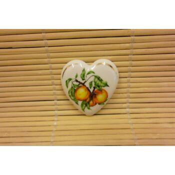 Hűtőmágnes - szív - barackos