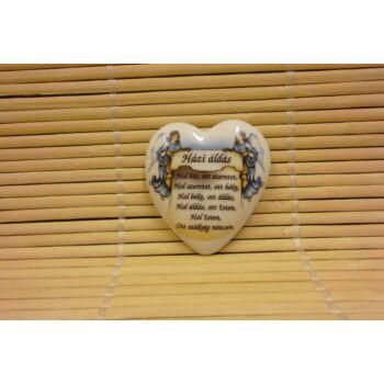 Hűtőmágnes - szív - házi áldás