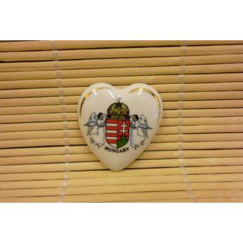 Hűtőmágnes - szív - címeres