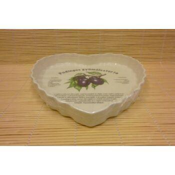 Szív alakú gyümölcstorta sütő - szilvás