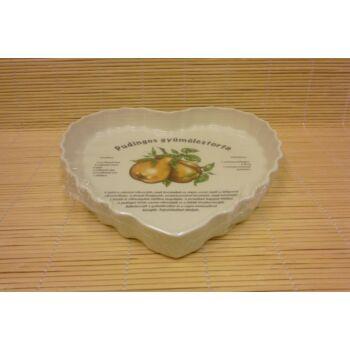 Szív alakú gyümölcstorta sütő - körtés